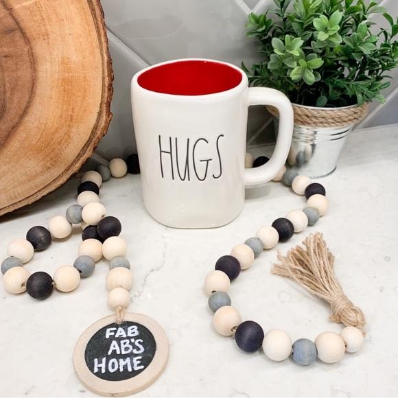Rae Dunn HUGS Red Ceramic Coffee Mug